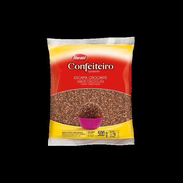 Escama Crocante sabor Chocolate Confeiteiro 500 g