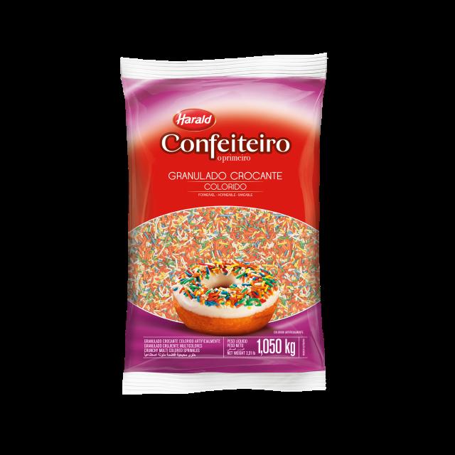Granulado Crocante Colorido Confeiteiro 1,050 kg
