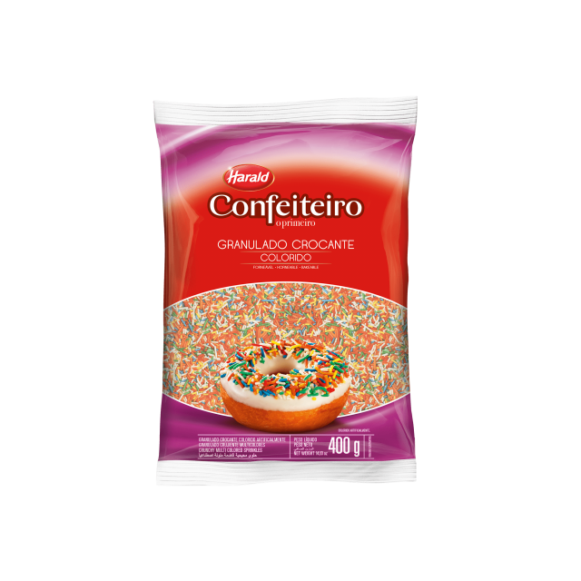Granulado Crocante Colorido Confeiteiro 400 g