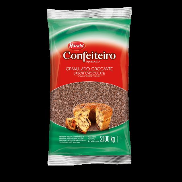 Granulado Crocante sabor Chocolate Confeiteiro 2,100 kg