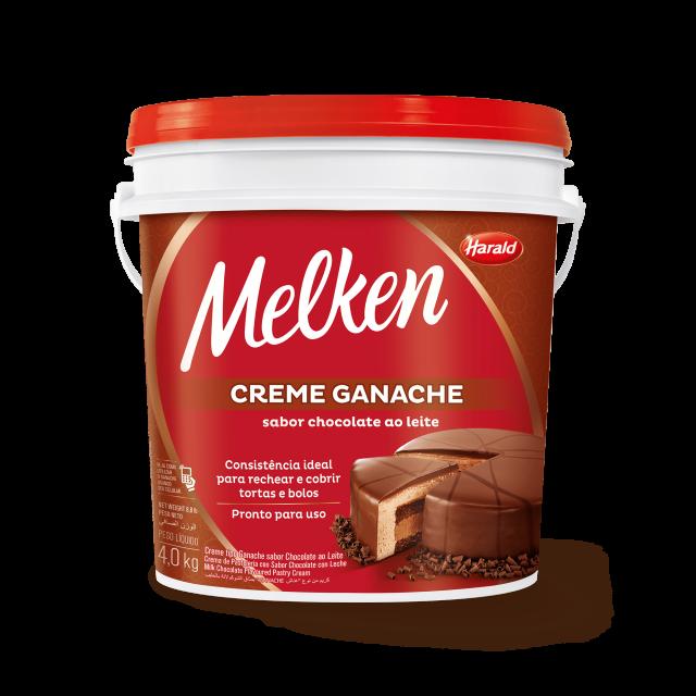 Creme Ganache sabor Chocolate ao Leite Melken Balde 4,000 kg