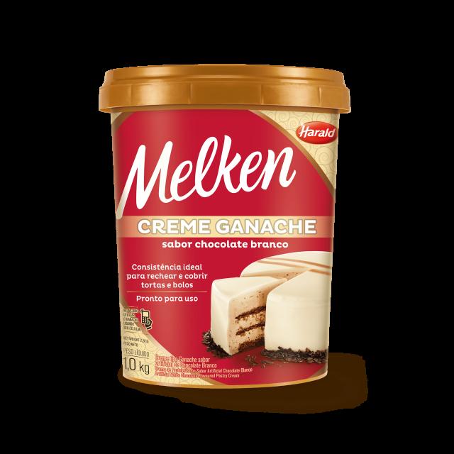 Creme Ganache sabor Chocolate Branco Melken Balde 1,000 kg