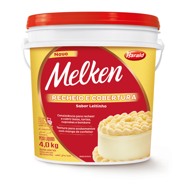 Recheio e Cobertura sabor Leitinho Melken Balde 4,000 kg