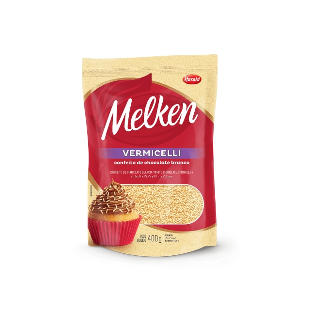 Granulado Vermicelli de Chocolate Branco Melken 400 g
