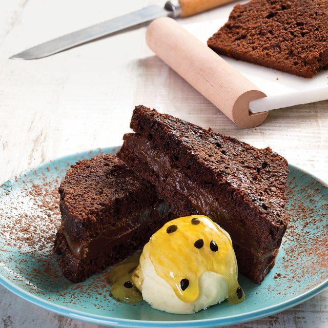 Toast de Chocolate e Maracujá