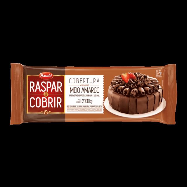 Raspar & Cobrir Meio Amargo Barra 2,100 kg