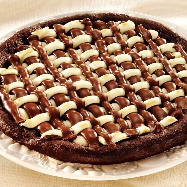 Massa de chocolate para pizza