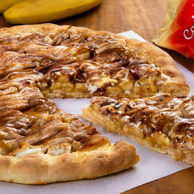 Pizza de Banana, Canela e Chocolate Branco