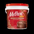 Recheio e Cobertura sabor Chocolate ao Leite Melken Balde 4,000 kg