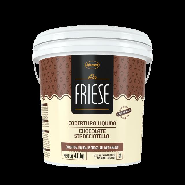Cobertura Líquida de Chocolate Stracciatella Friese 4,0 kg
