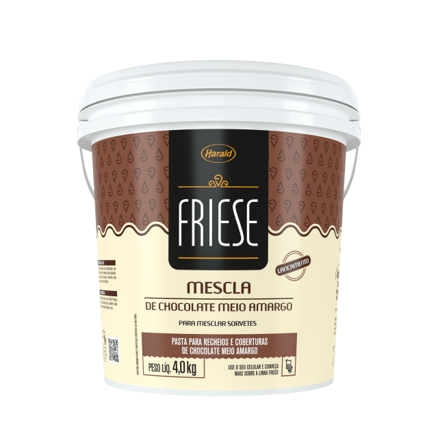 Mescla de Chocolate Meio Amargo Friese 4,0 kg